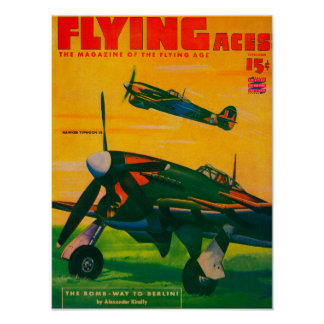 Flying Aces Magazine Cover 3 Poster