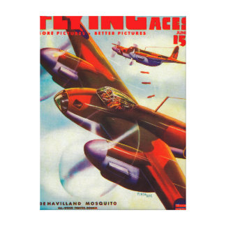 Flying Aces Magazine Cover 4 Canvas Print