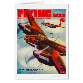 Flying Aces Magazine Cover 4 Cards