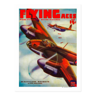 Flying Aces Magazine Cover 4 Postcard