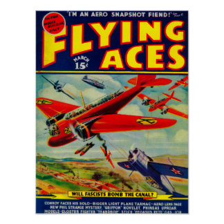 Flying Aces Magazine Cover 4 Poster