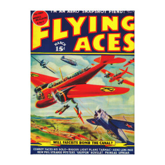 Flying Aces Magazine Cover 5 Canvas Print
