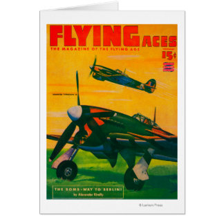 Flying Aces Magazine Cover 5 Greeting Cards
