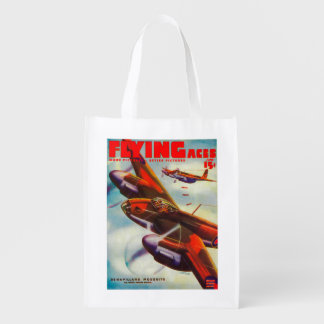 Flying Aces Magazine Cover 5 Grocery Bag