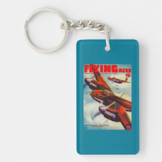 Flying Aces Magazine Cover 5 Keychain