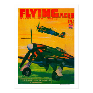 Flying Aces Magazine Cover 5 Postcard