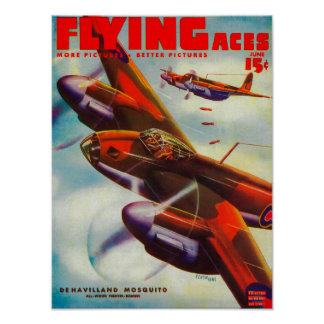 Flying Aces Magazine Cover 5 Poster