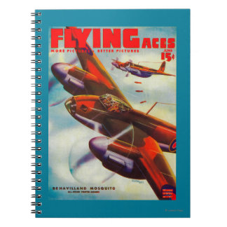 Flying Aces Magazine Cover 5 Spiral Notebook