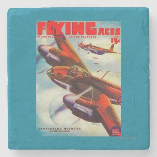 Flying Aces Magazine Cover 5 Stone Coaster