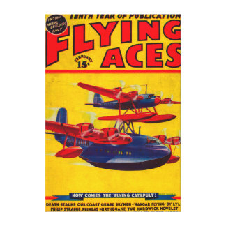 Flying Aces Magazine Cover Canvas Print