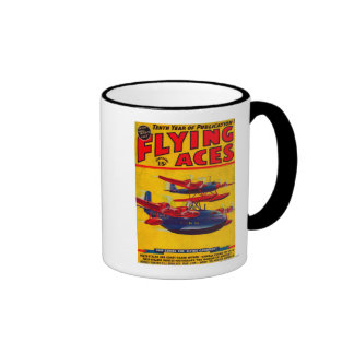 Flying Aces Magazine Cover Coffee Mugs