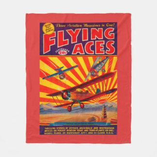 Flying Aces Magazine Cover Fleece Blanket