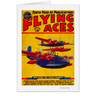 Flying Aces Magazine Cover Greeting Card