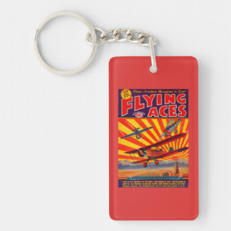 Flying Aces Magazine Cover Keychain