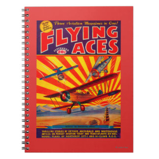 Flying Aces Magazine Cover Notebook