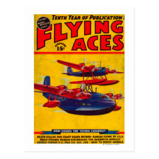Flying Aces Magazine Cover Postcard