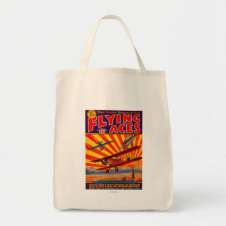 Flying Aces Magazine Cover Tote Bag