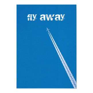 Flying airplane card
