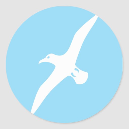Flying Albatross Classic Round Sticker