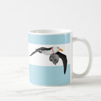 Flying Albatross With Human Skull Coffee Mug