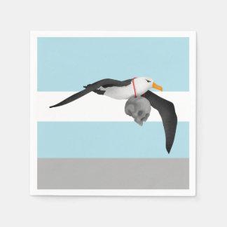 Flying Albatross With Human Skull Paper Napkin