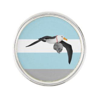 Flying Albatross With Human Skull Pin