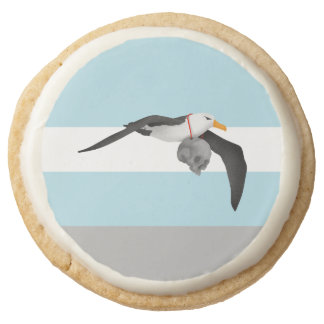 Flying Albatross With Human Skull Round Shortbread Cookie