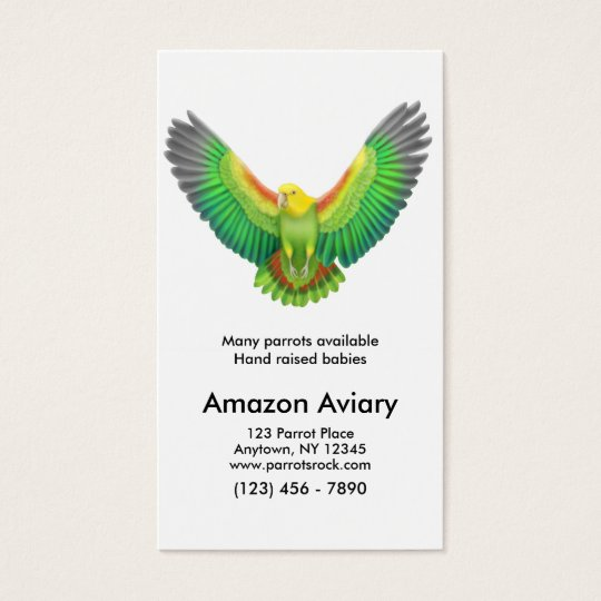 Flying Amazon Parrot Business Card