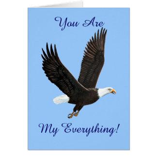Flying American Bald Eagle Card