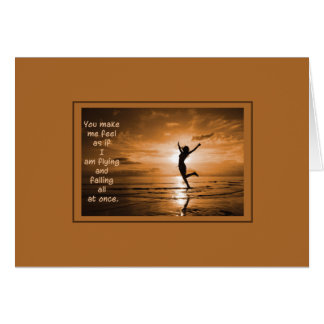 Flying and Falling Greeting Card
