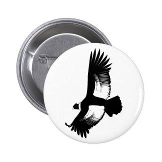 Flying Andean Condor Pinback Button