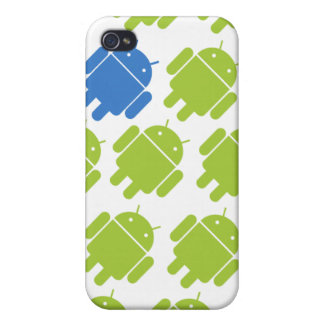 Flying Android Blue iPhone 4/4S Cover