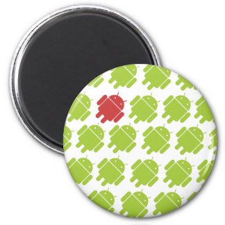 Flying Android Red 2 Inch Round Magnet