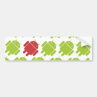 Flying Android Red Bumper Sticker