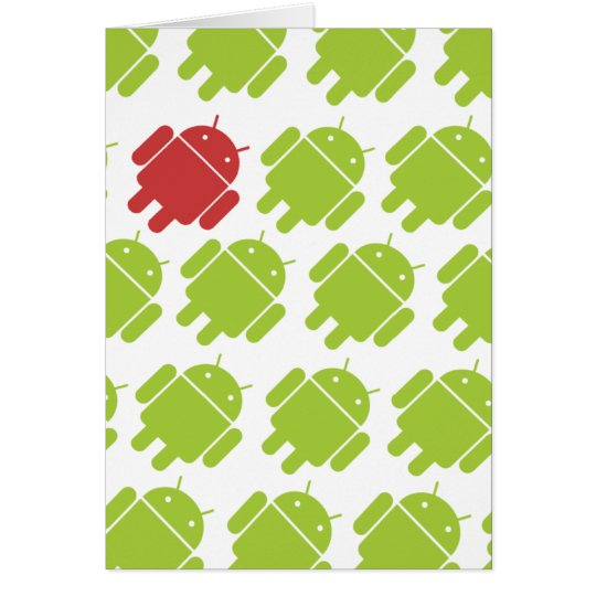 Flying Android Red Card