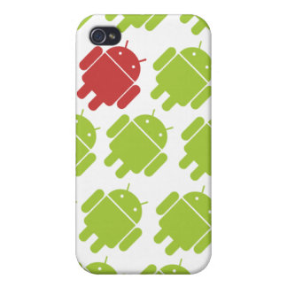 Flying Android Red iPhone 4/4S Cases