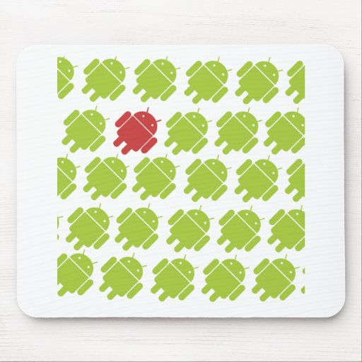 Flying Android Red Mouse Pad