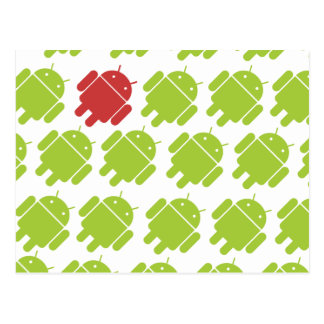 Flying Android Red Postcard