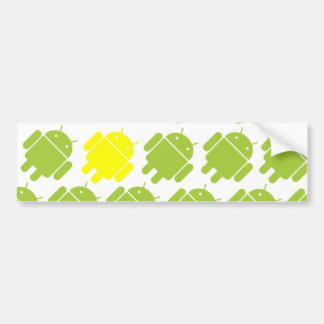 Flying Android Yellow Bumper Sticker