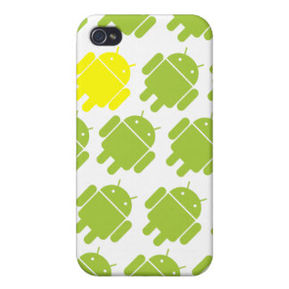 Flying Android Yellow Case For iPhone 4