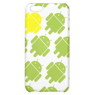 Flying Android Yellow Cover For iPhone 5C