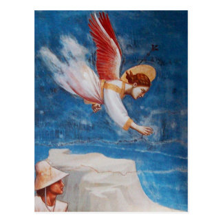 FLYING ANGEL FROM ST. JOACHIM'S DREAM, Parchment Postcard