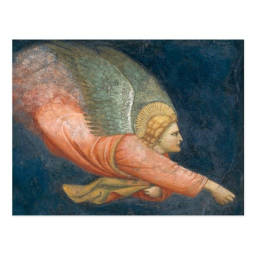 Flying angel (Giotto follower) CC0508 Postcard