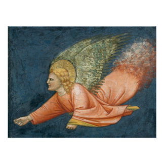 Flying angel (Giotto follower) CC0525 Poster