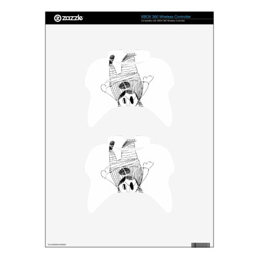 Flying Angel Pirate Girl Xbox 360 Controller Skin