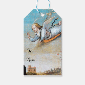 FLYING ANNUNCIATION ANGEL GIFT TAGS