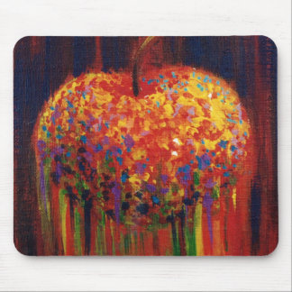 Flying apple mouse pad