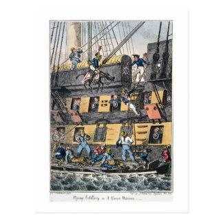 Flying Artillery or A Horse Marine (colour engravi Postcard