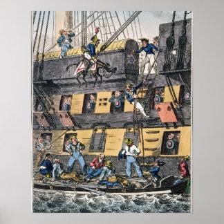 Flying Artillery or A Horse Marine (colour engravi Poster