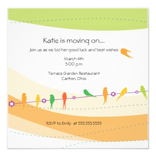 Invitation To A Farewell Party with great invitation layout